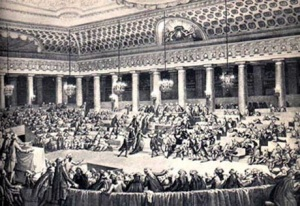 The French National Assembly in 1789