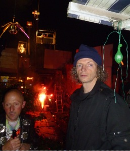 Phil Zimmerman (right) with Nigel Noize last night