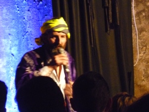 Turbaned comic Phil Kay at last night's Soirée Subterranea