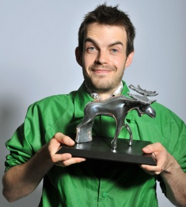 Pat Cahill, winner of an Amused Mose Award