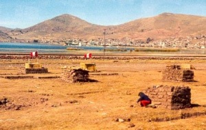 Children living in mud homes outside Puno in 1983