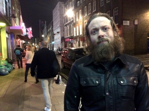 Richard Coughlan on a night out in Soho
