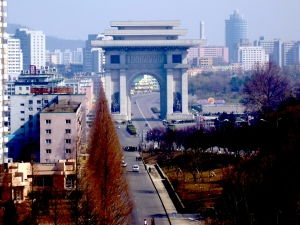 Pyongyang's Arch of Triumph - bigger than the French one