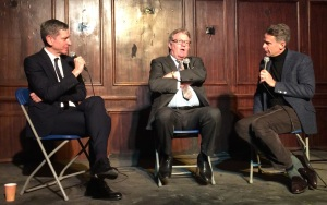 (From left) David Mills, Jim Davidson, Scott Capurro last night