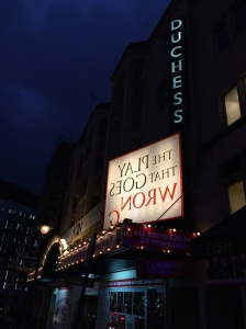The Duchess Theatre wit its back-to-front title sign