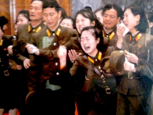 Soldiers grieving over the death of Kim Jong-Il