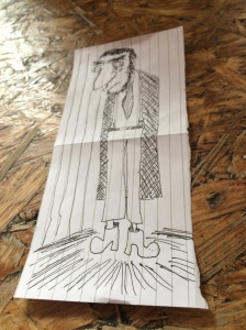 John's drawing of a man with a tie
