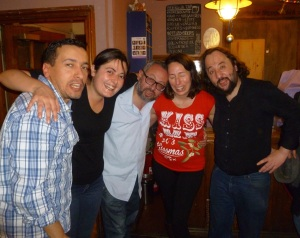 (From left) Marouen Mraihi., Giada Garofalo, Giacinto Palmieri, Romina Puma, Alex Martini after last night's show