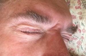 A selfie taken by myself while asleep