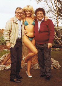 Little and Large with Susie Silvey in the 1980s.