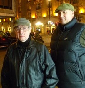 Micky Fawcett (left) with son Michael Fawcett