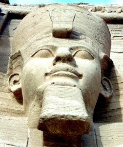 You can look on the face of Ozymandias at Abu Simbel