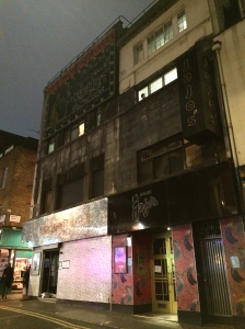 The closed Raymond Revuebar (left) and Madame JoJo's (right) in Soho last night