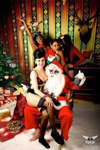 Is it really Adam Taffler as a pervy Santa Claus?