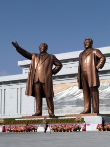 April - Kim Il-sung (with glasses added) and Kim Jong-Il
