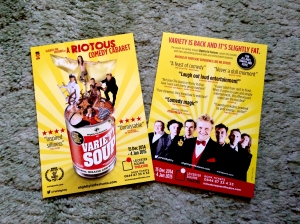 Variety Soup - Leicester Square Theatre flyer