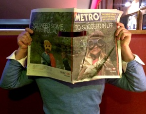 Adam Taffler behind Metro