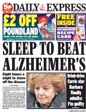 Today's Daily Express headline seems very unlikely to come true