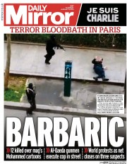 Last Thursday, the Daily Mirror reported the Charlie Ebdo attack