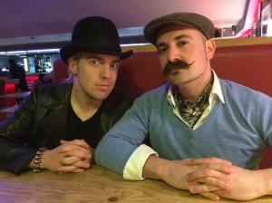 John Robertson (left) with Adam Taffler yesterday