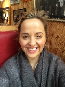 A selfie by Luisa Omielan at Soho Theatre yesterday