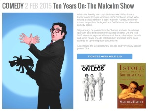 Malcolm Hardee 10th Anniversary Show 2015