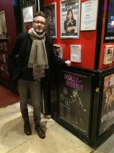 Paul outside the Leicester Square Theatre