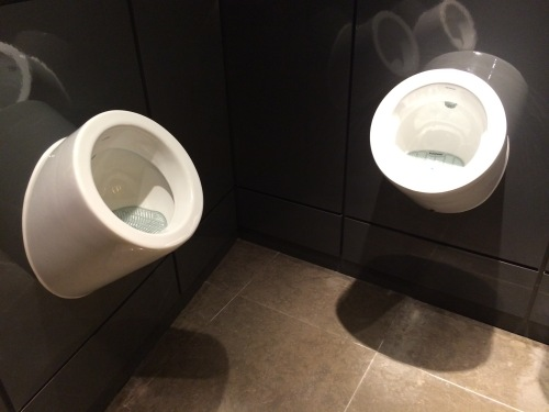 These are not two urinals photographed in January 2015
