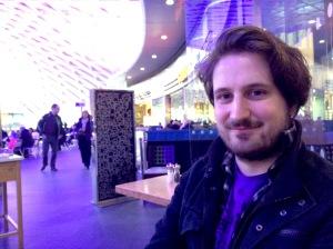 Alexander Bennett at King's Cross station yesterday
