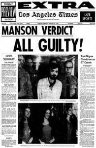 The LA Times reports on Manson