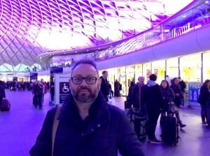 Giacinto and I chatted at King's Cross