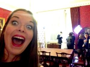 Juliette Burton with Nick Clegg in background