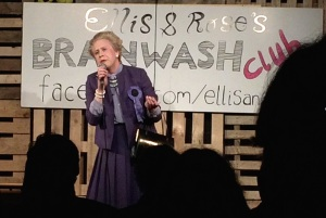 Matt as Margaret last night at the Brainwash