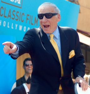 Mel Brooks once told me to open my mouth when being photographed
