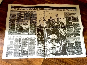 A double-page Guardian spread