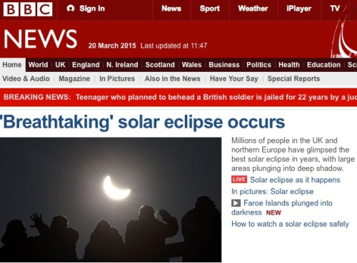The BBC reporting what I didn't see