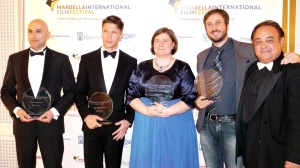 Ben (second left) with other winners at the Marbella Film Festival