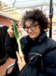 Copstick takes a leek during yesterday's Grouchy Club Podcast recording