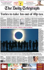 This morning's Daily Telegraph touted the solar eclipse