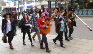 Some of the Party in Uxbridge High Street yesterday