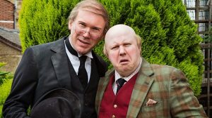 Matt Lucas (right) and Alex Macqueen in the BBC's Pompidou