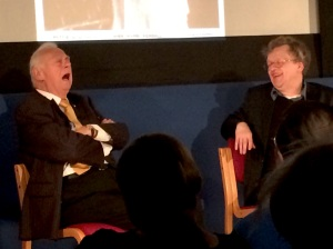 Comic Roy Hudd (left) sings at the Cinema Museum last night (+ Glenn Mitchell)