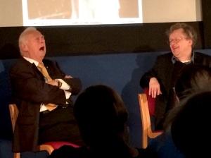 Comic Roy Hudd (left) sings at the Cinema Museum last night (+ Glenn Mitchell)