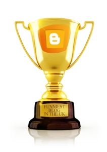 The UK's Funniest Blogger trophy