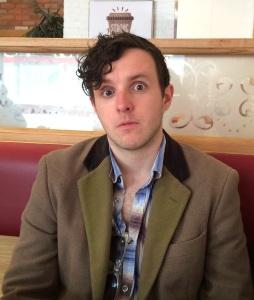 Gareth, stunned at the loss of a Malcolm Hardee Award