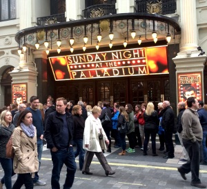 The London Palladium yesterday