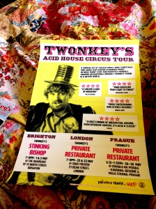 Twonkey's Acid House Circus Tour poster