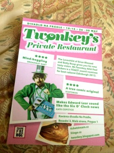 Mr Twonkey's Prague Fringe flyer