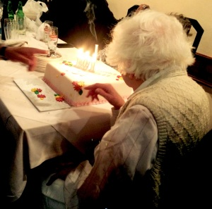 Mrs H on her 101st birthday