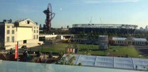 Secret Cinema's Back To The Future set at the Olympic Park (Photograph by Nathan Cassidy)